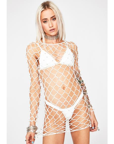 Chill Desert Drifter Fishnet Dress