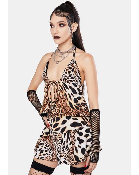 Queen Leopard Tiana Halter Top
