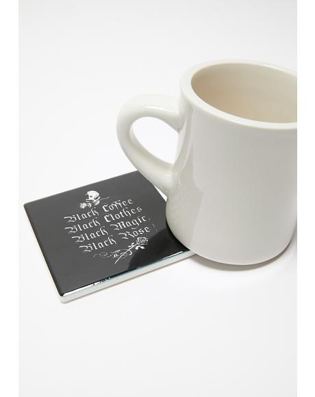 Black Coffee Coaster