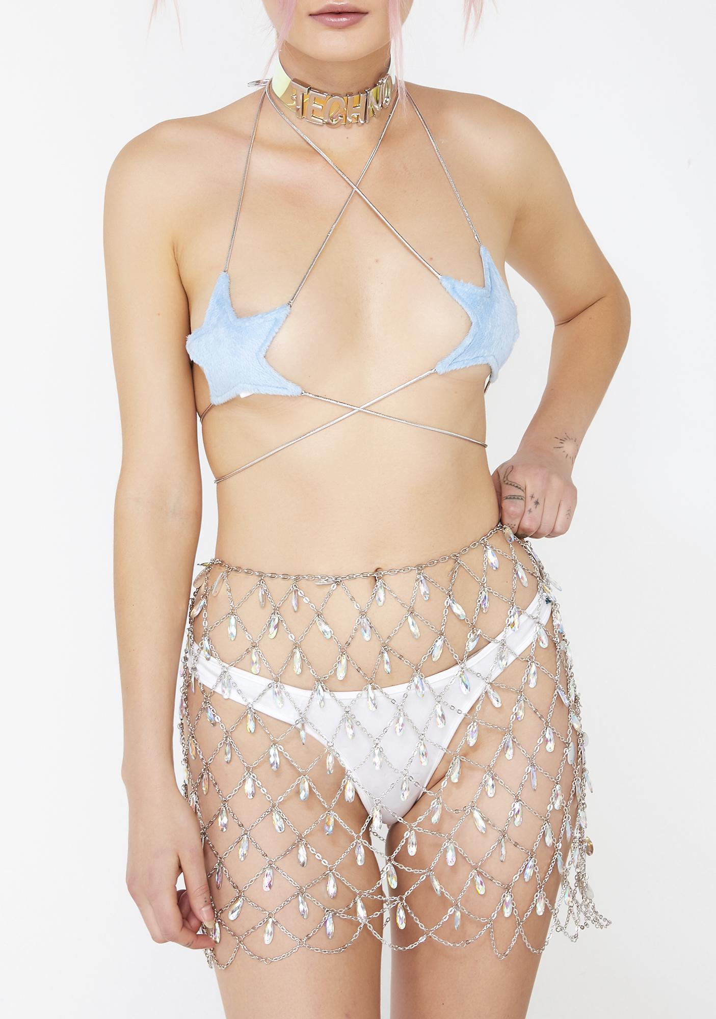 Club Exx Glam Goddess Chain Skirt