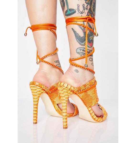 AZALEA WANG Evil Charm Wrap Heels