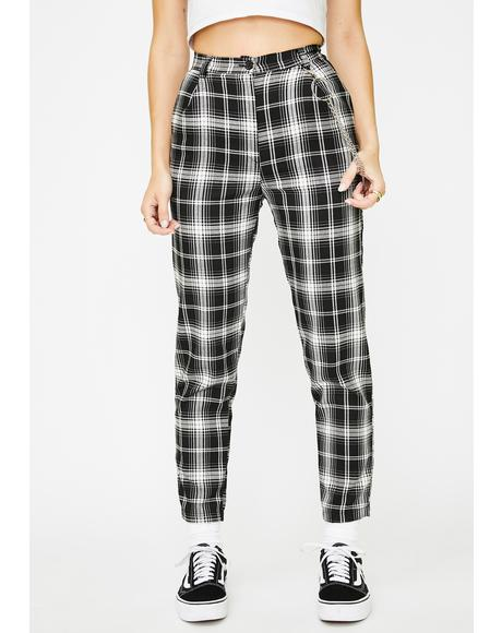 Sarah Plaid Trousers