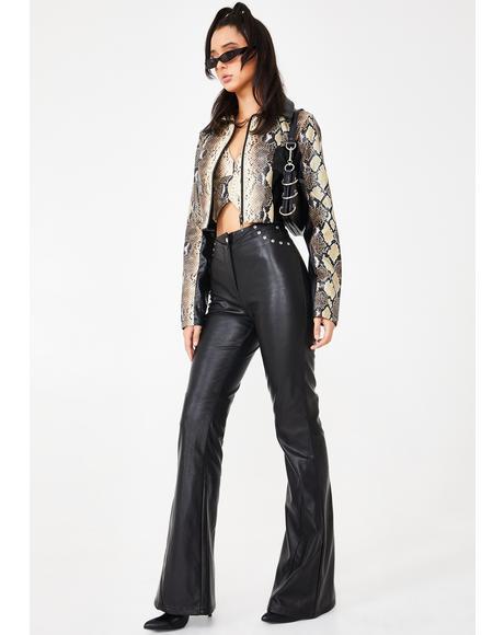 Black Desiree Studded Pants