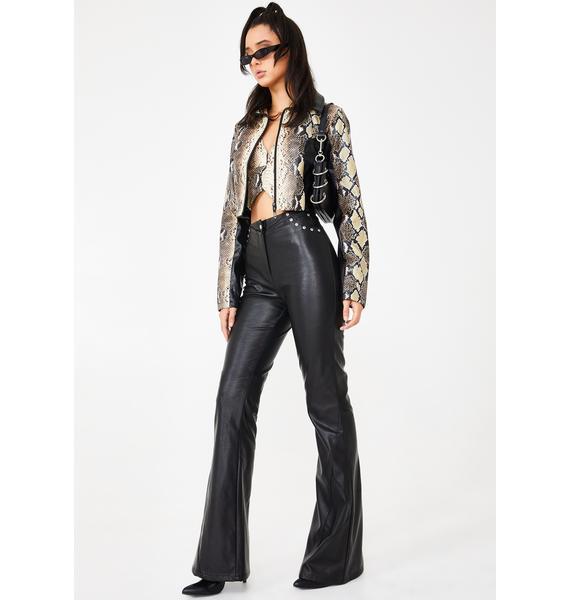 I AM GIA Black Desiree Studded Pants