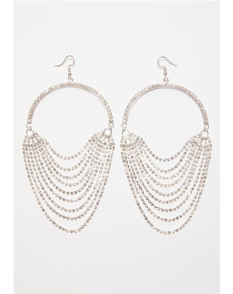 Can't Outshine Me Rhinestone Earrings