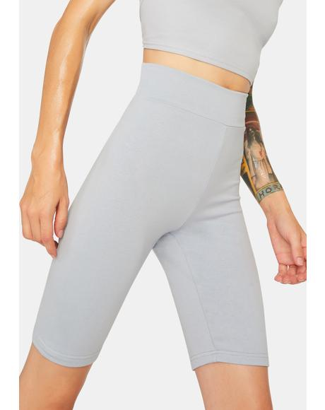 Slate Flex Game Biker Shorts
