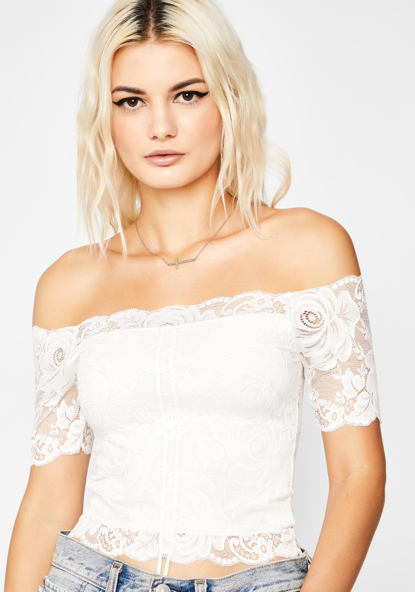 Lovesick Loner Lace Top