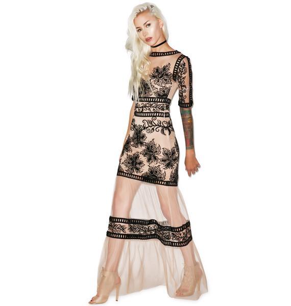 For Love & Lemons Desert Nights Maxi Dress