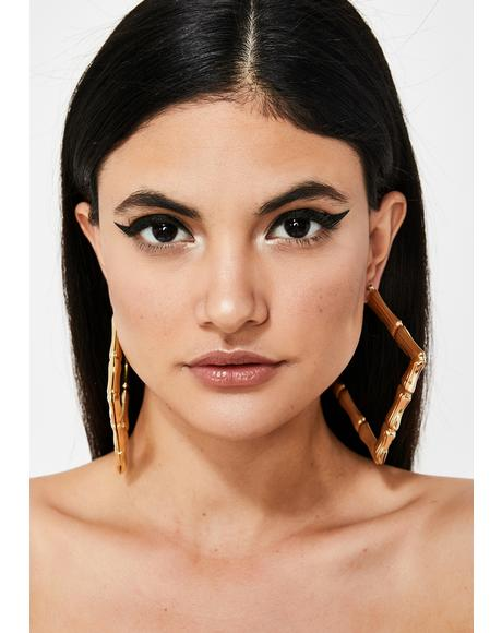 Miss Behavin' Bamboo Hoops