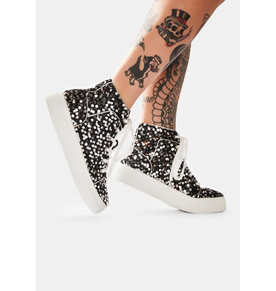 Chrome Party's Here Sequin Sneakers