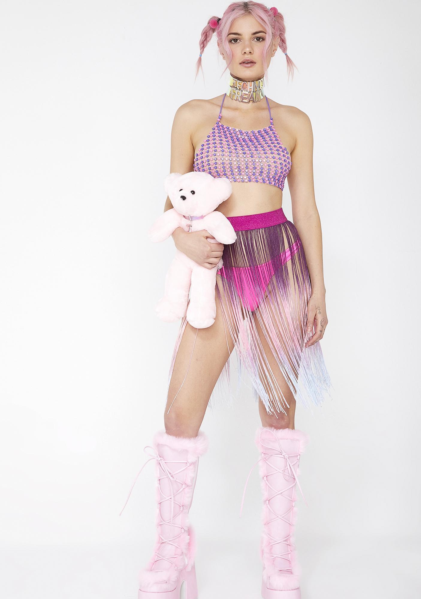 Club Exx Pixie Cosmic Candy Halter Top