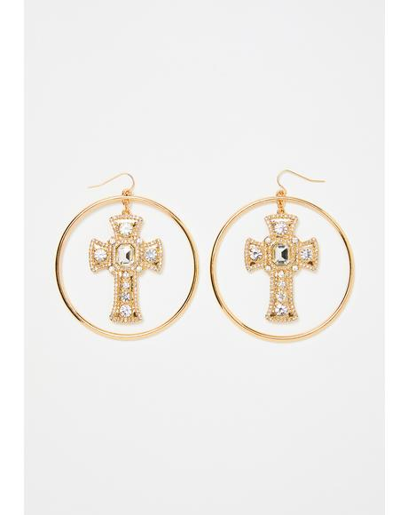Holy Vow Cross Earrings