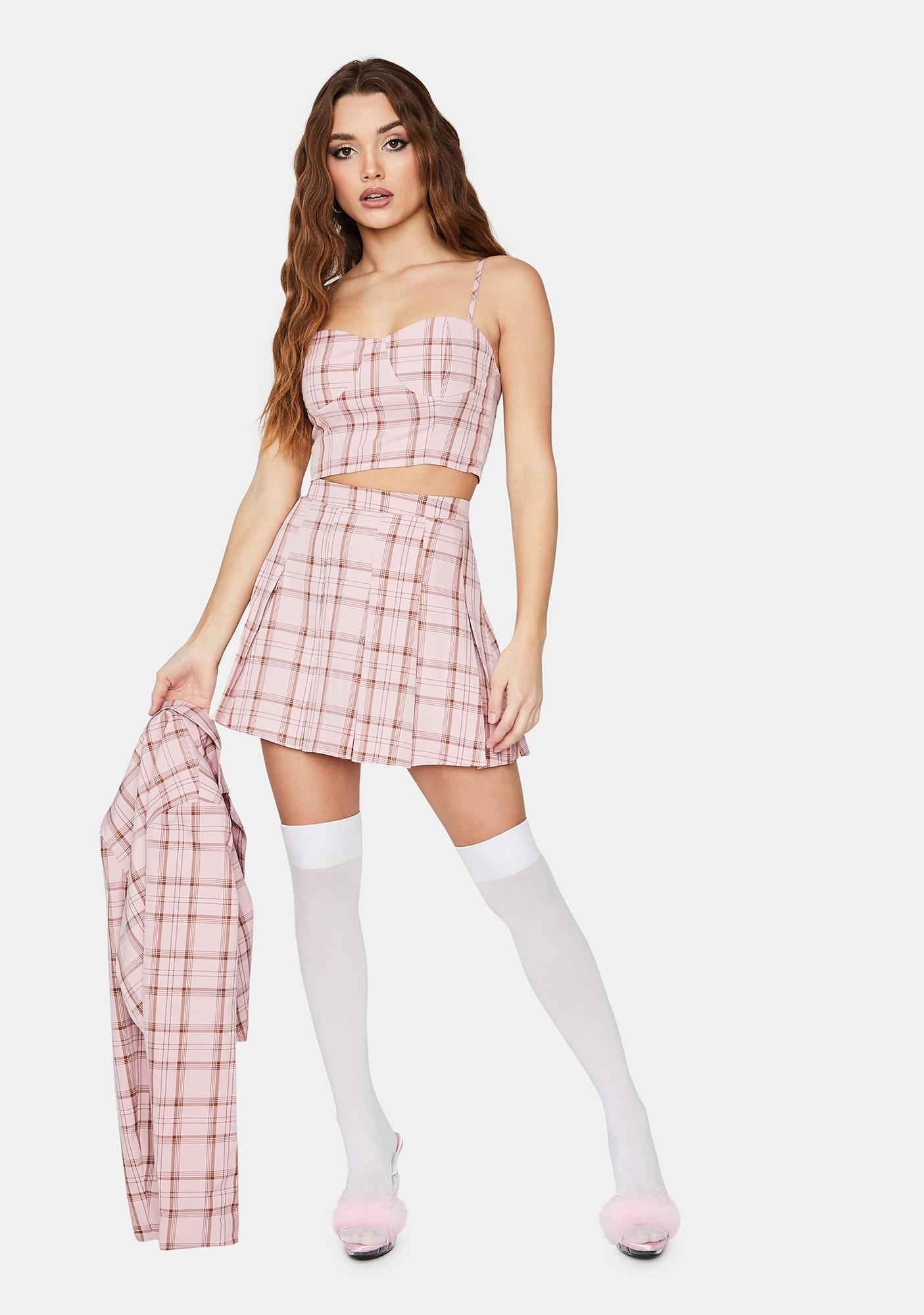 Blush Passion First Plaid Tank Top