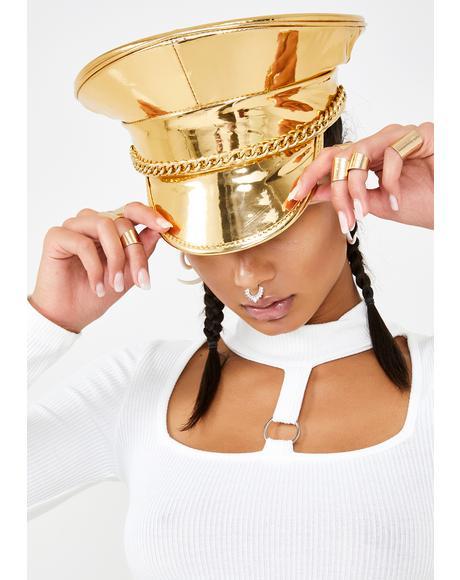 Golden Mischief N' Mayhem Captain Hat