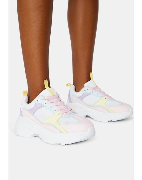 Lolly Candy Factory Pastel Chunky Sneakers