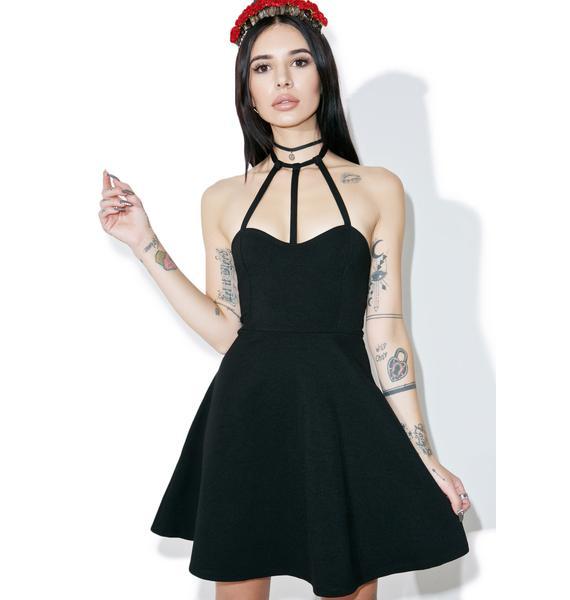 Gypsy Warrior Cage Halter Mini Dress