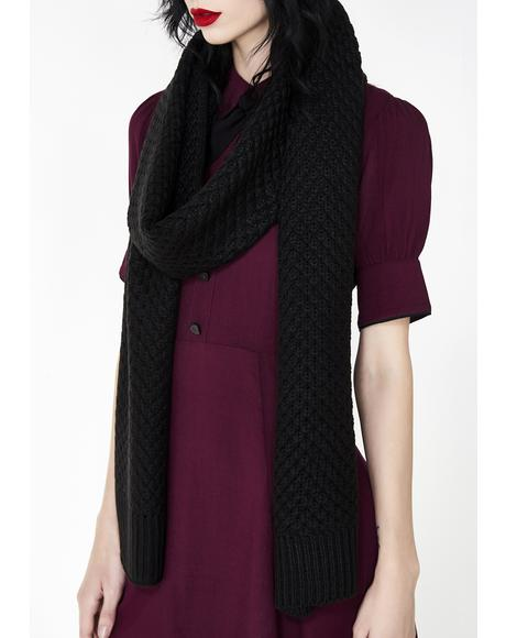 Midnight Cozy Chic Knit Scarf