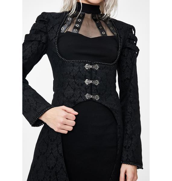 Dark In Love Gothic Floor Length Cocktail Jacket