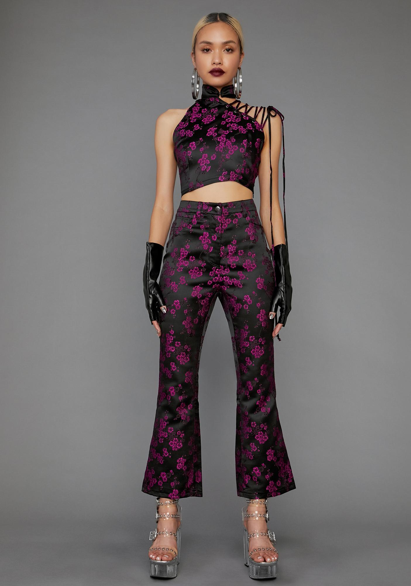 Poster Grl Undercover Influencer Cropped Flare Pants