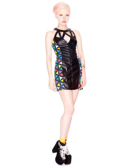 x Giza Multi Geometric Dress