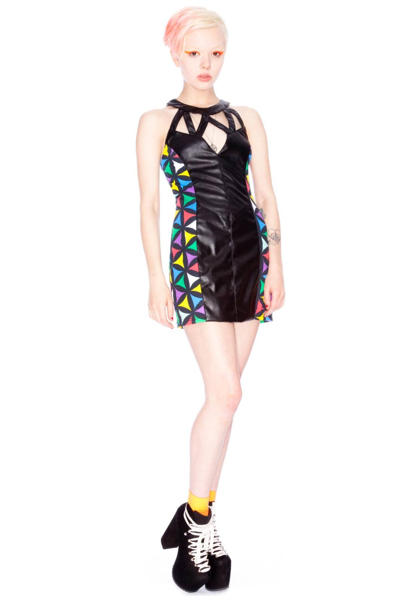 Joyrich x Giza Multi Geometric Dress