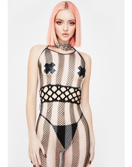 Dangerous Drifter Fishnet Dress