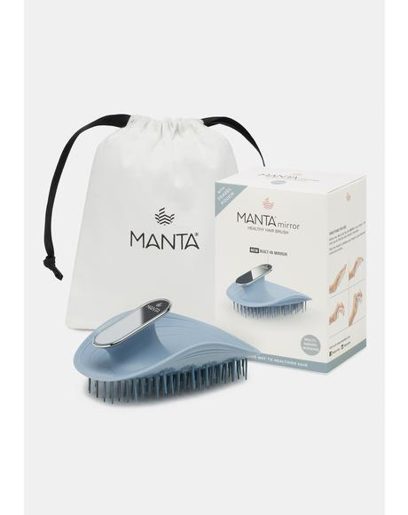 Blue Manta Mirror Hair Brush