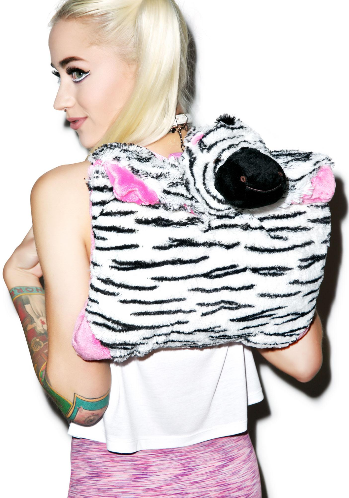 Pillow Pets Zippity Zebra Backpack