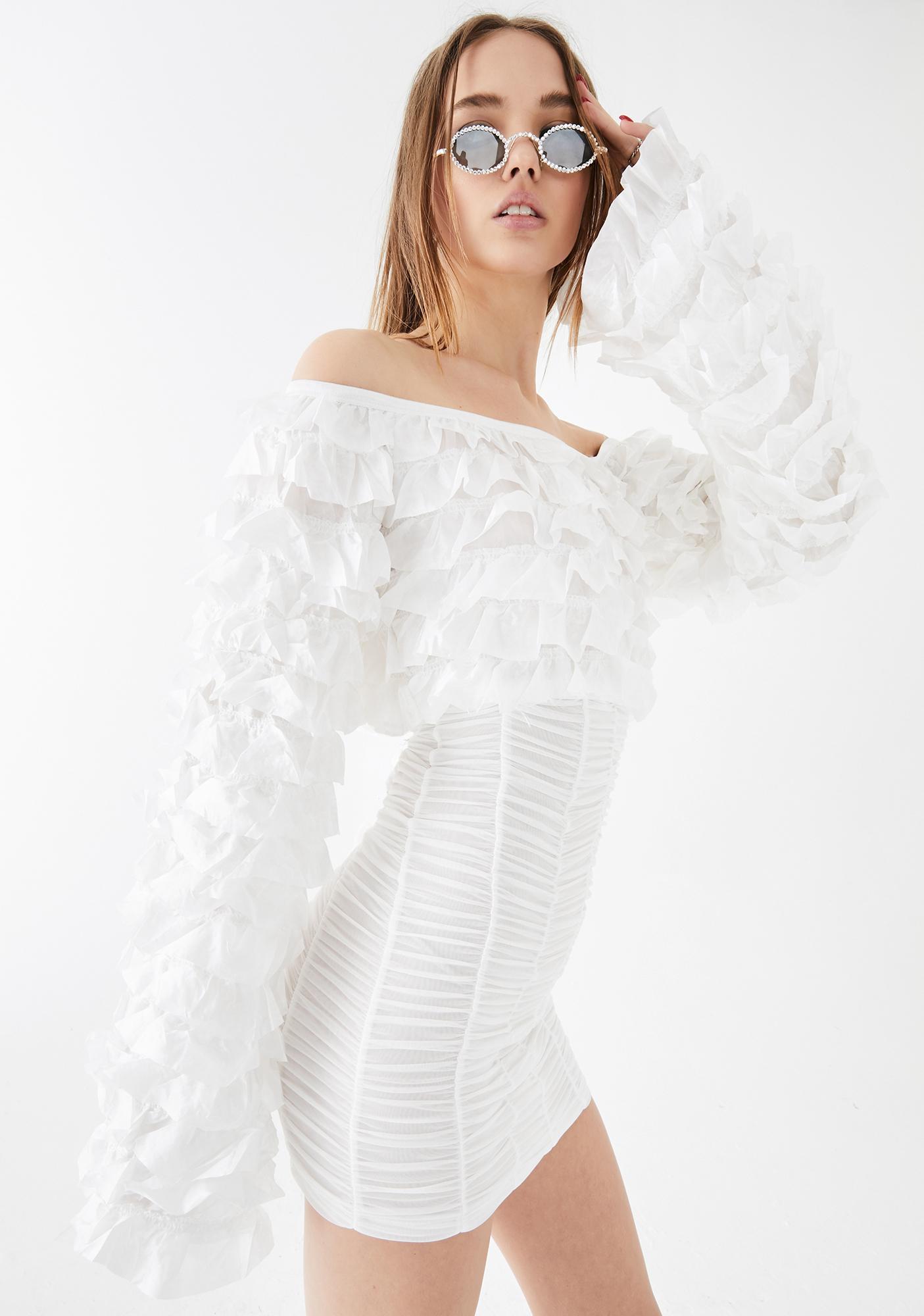 Kiki Riki Pure Sin Ruched Mini Dress