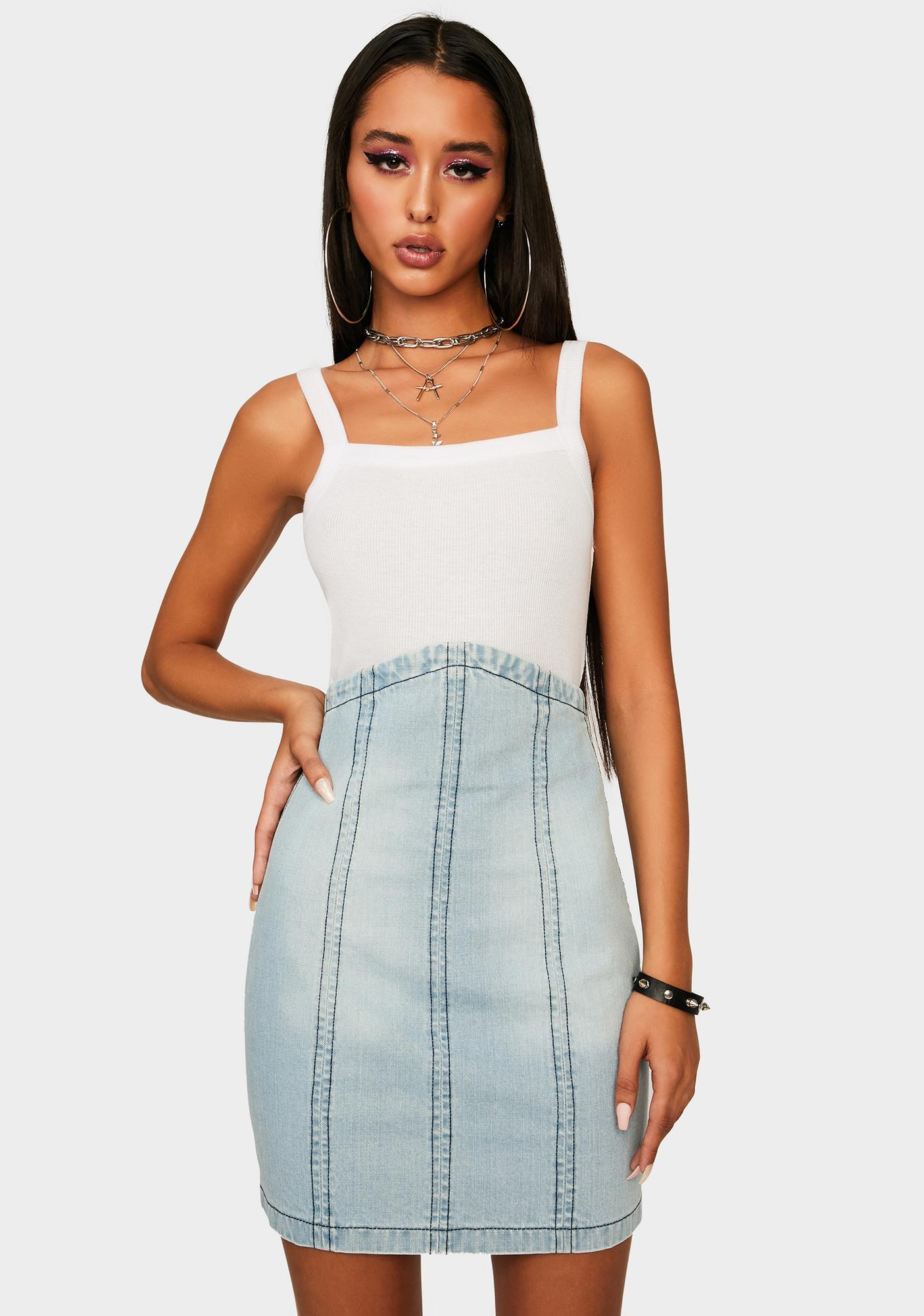 Kiki Riki Believe It Or Not Denim Skirt