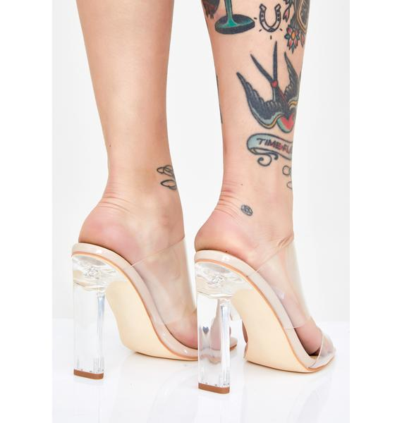 AZALEA WANG Rose Clear Heels