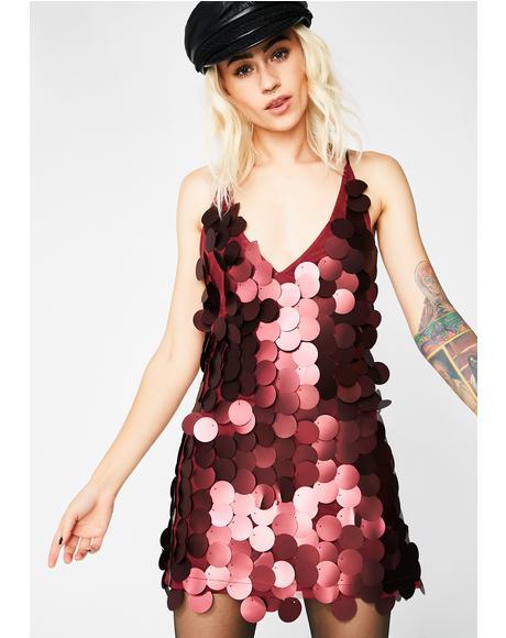 Burgundy Finn Dress