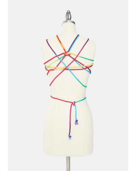 Funfetti Rainbow Bondage Rope