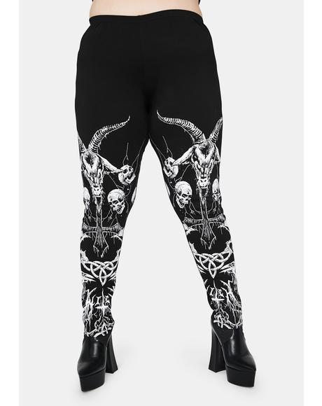 Our Lord Of Darkness Printed Leggings