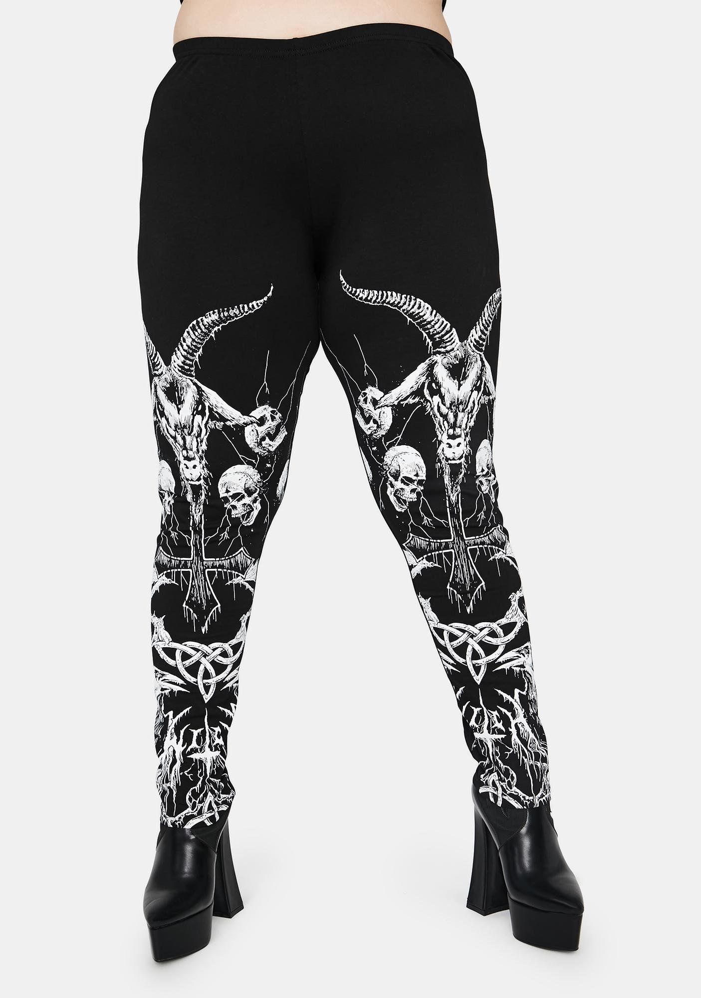 Widow Our Lord Of Darkness Printed Leggings