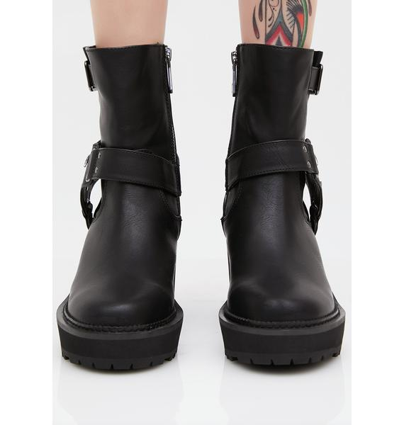 Killstar Starlight Biker Boots