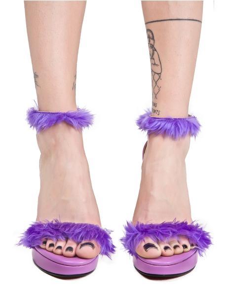 Purp Furbae Heels