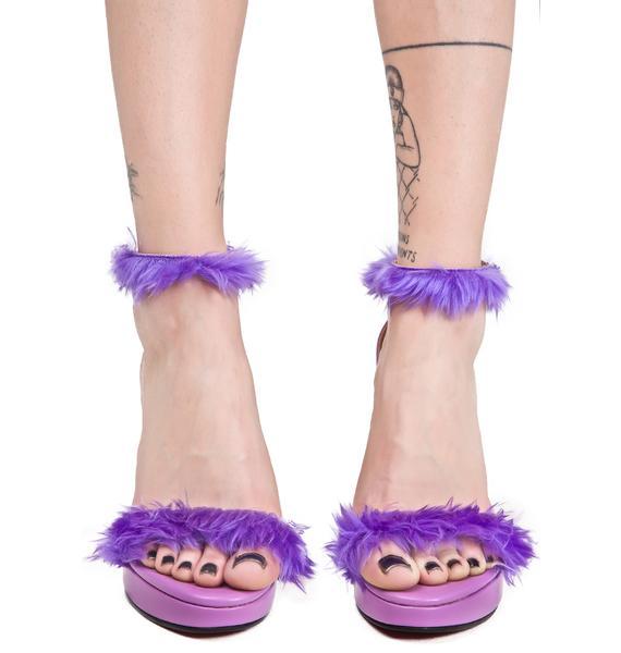 O Mighty Purp Furbae Heels