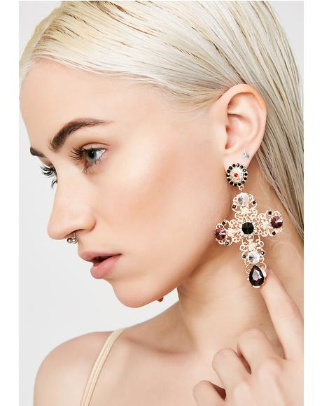 Not Holy Cross Earrings