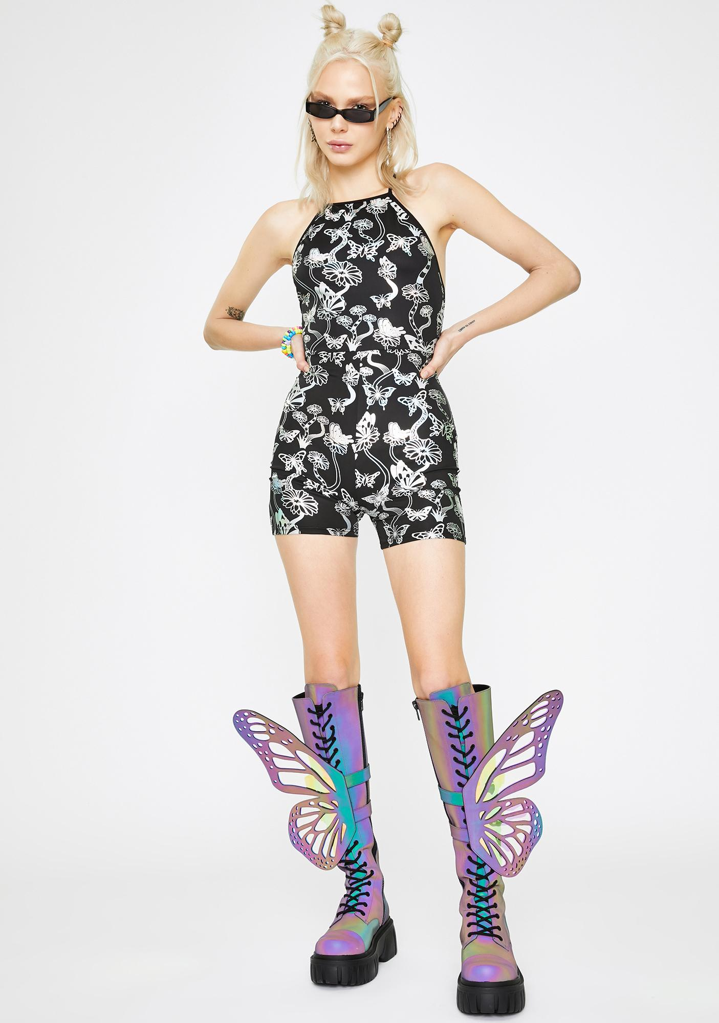 Club Exx Sweet Escape Holographic Romper