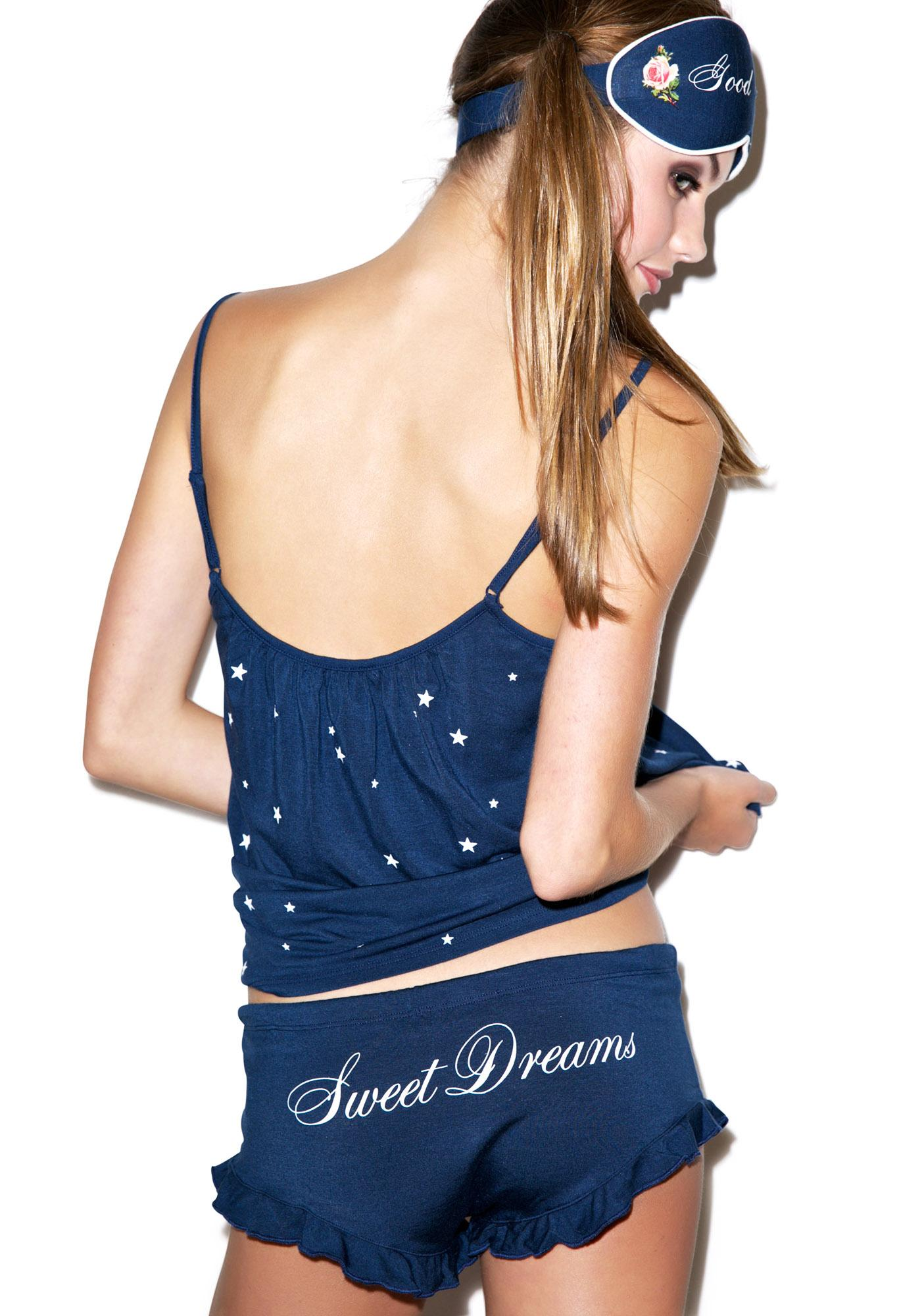 Wildfox Couture Starry Night Cami Shirt Set
