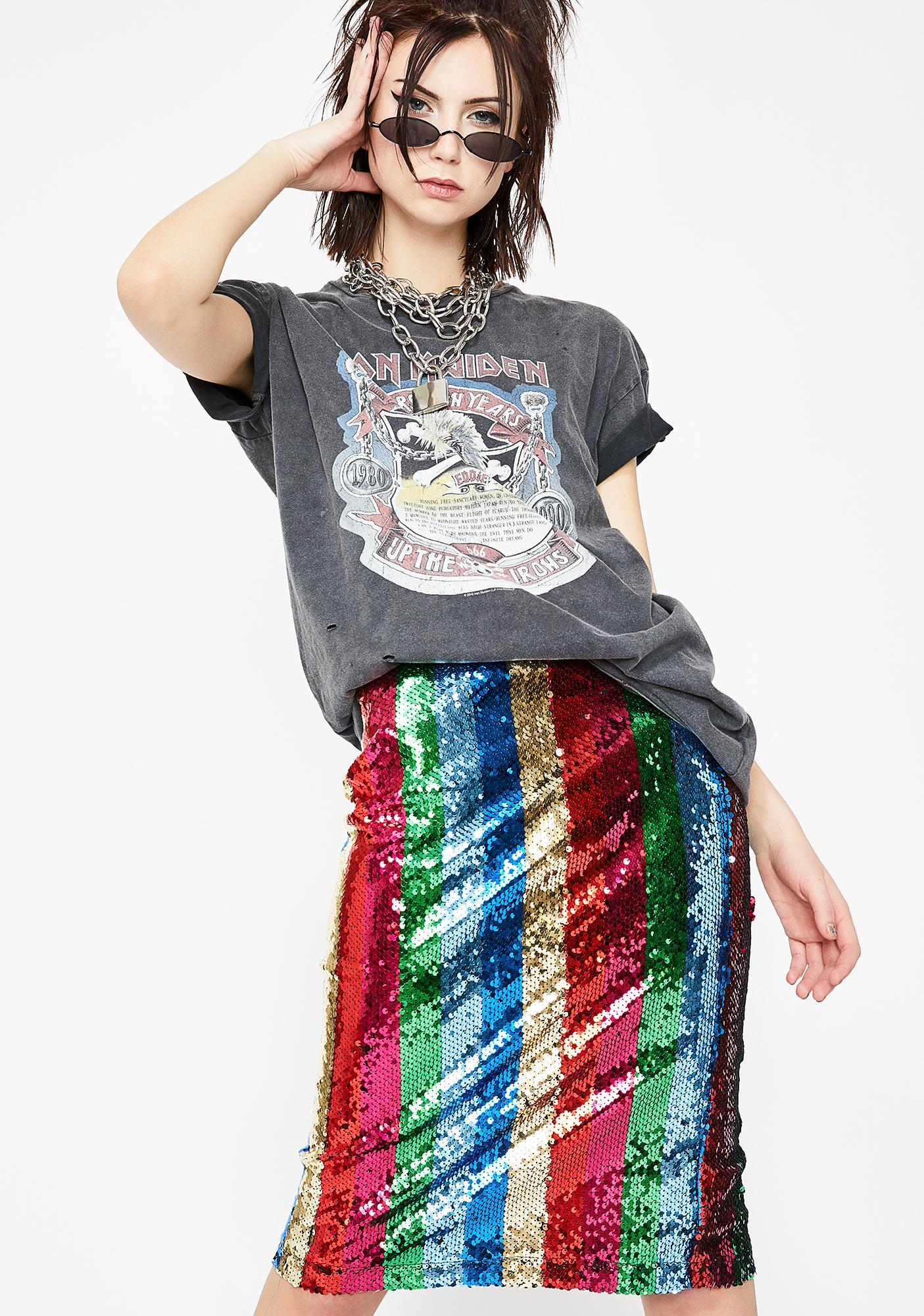 Sequin Queen Pencil Skirt