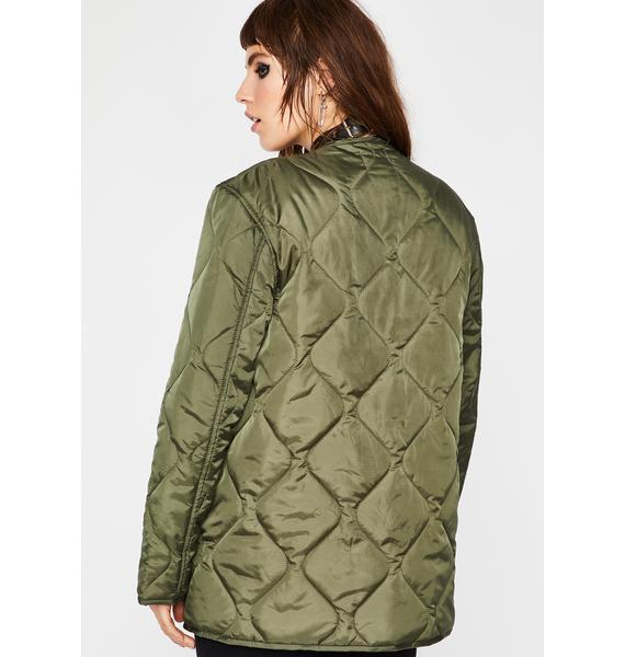 Current Mood Dope Americana Quilted Jacket