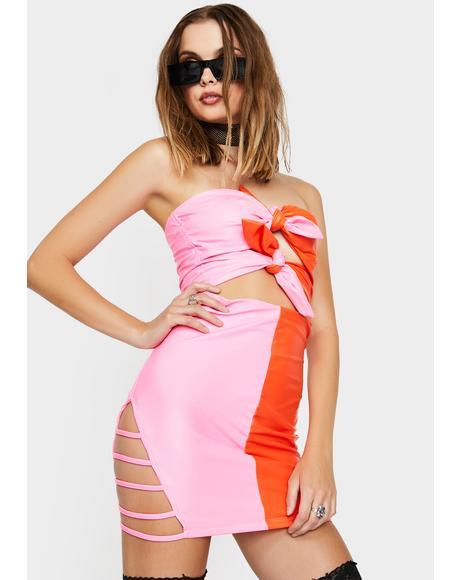 Undivided Attention Strapless Dress