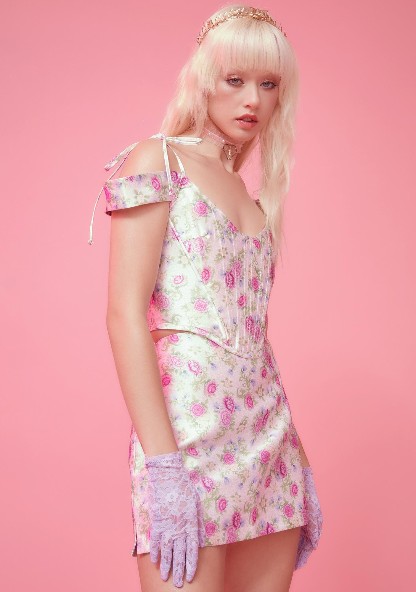 Sugar Thrillz Blooming Polaroid Fever Mini Skirt