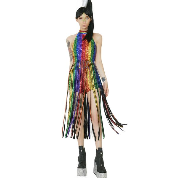 EASY TIGER Dream In Rainbow Tassel Top