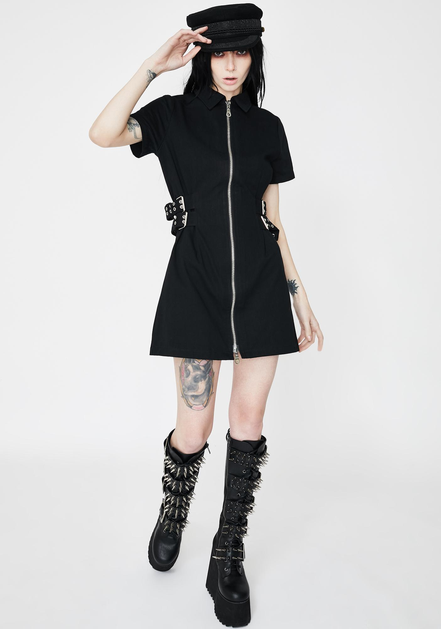 The Ragged Priest Damage Buckle Mini Dress