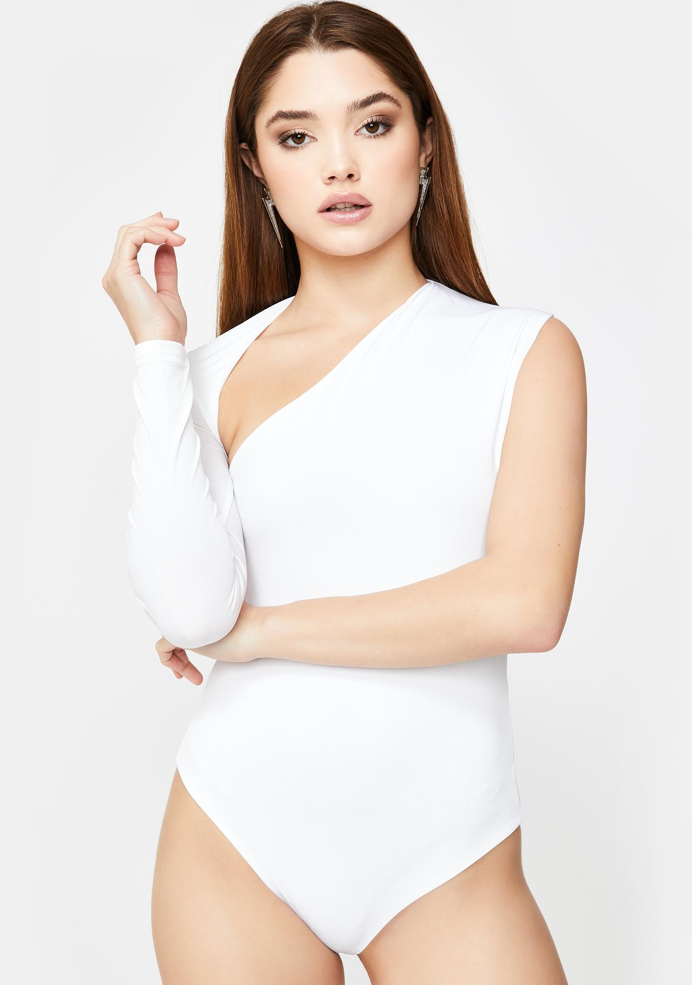 SNDYS. THE LABEL White Dany Cut-Out Bodysuit