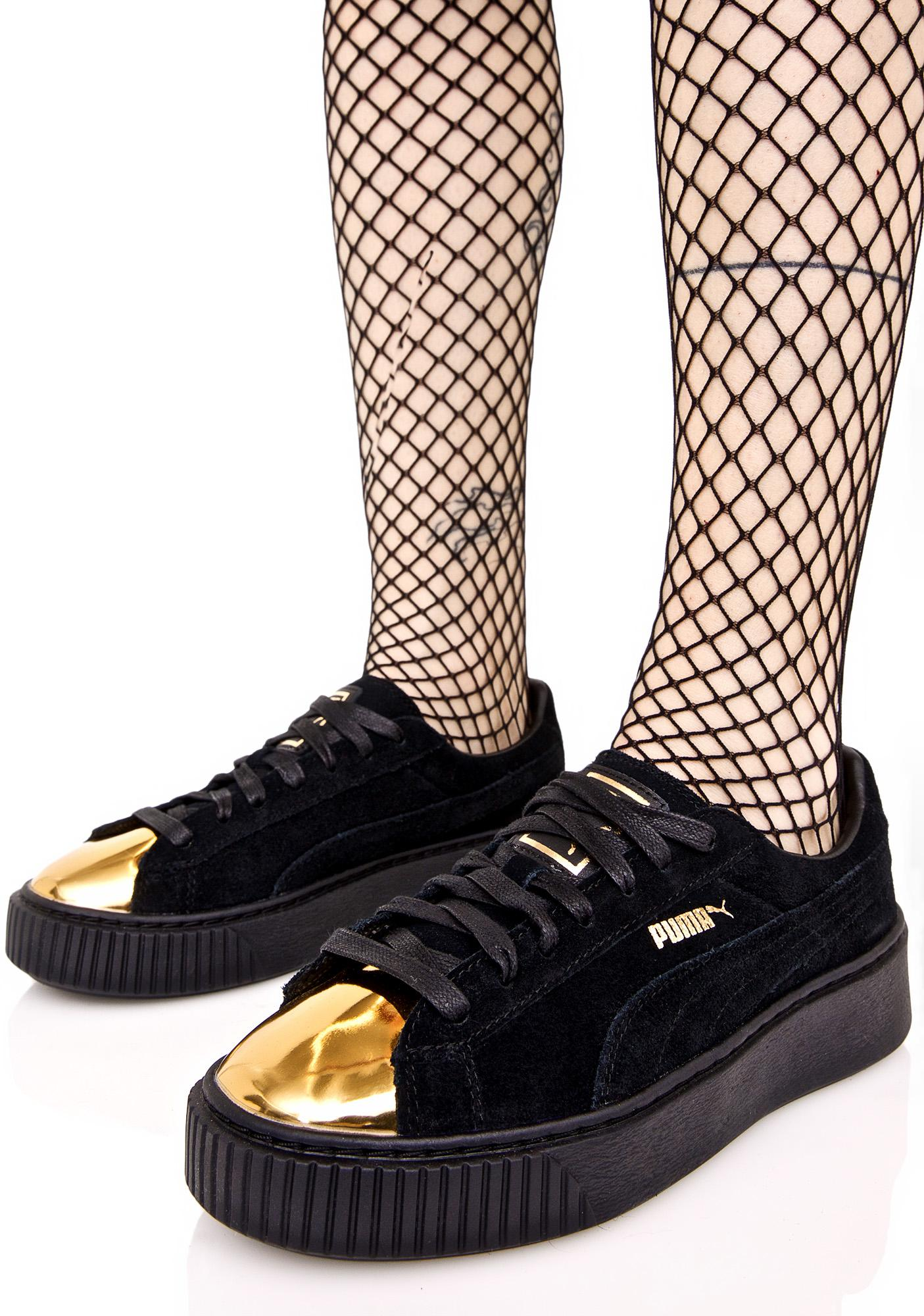 ... PUMA Gold Tip Suede Platform Sneakers ... 8be813594