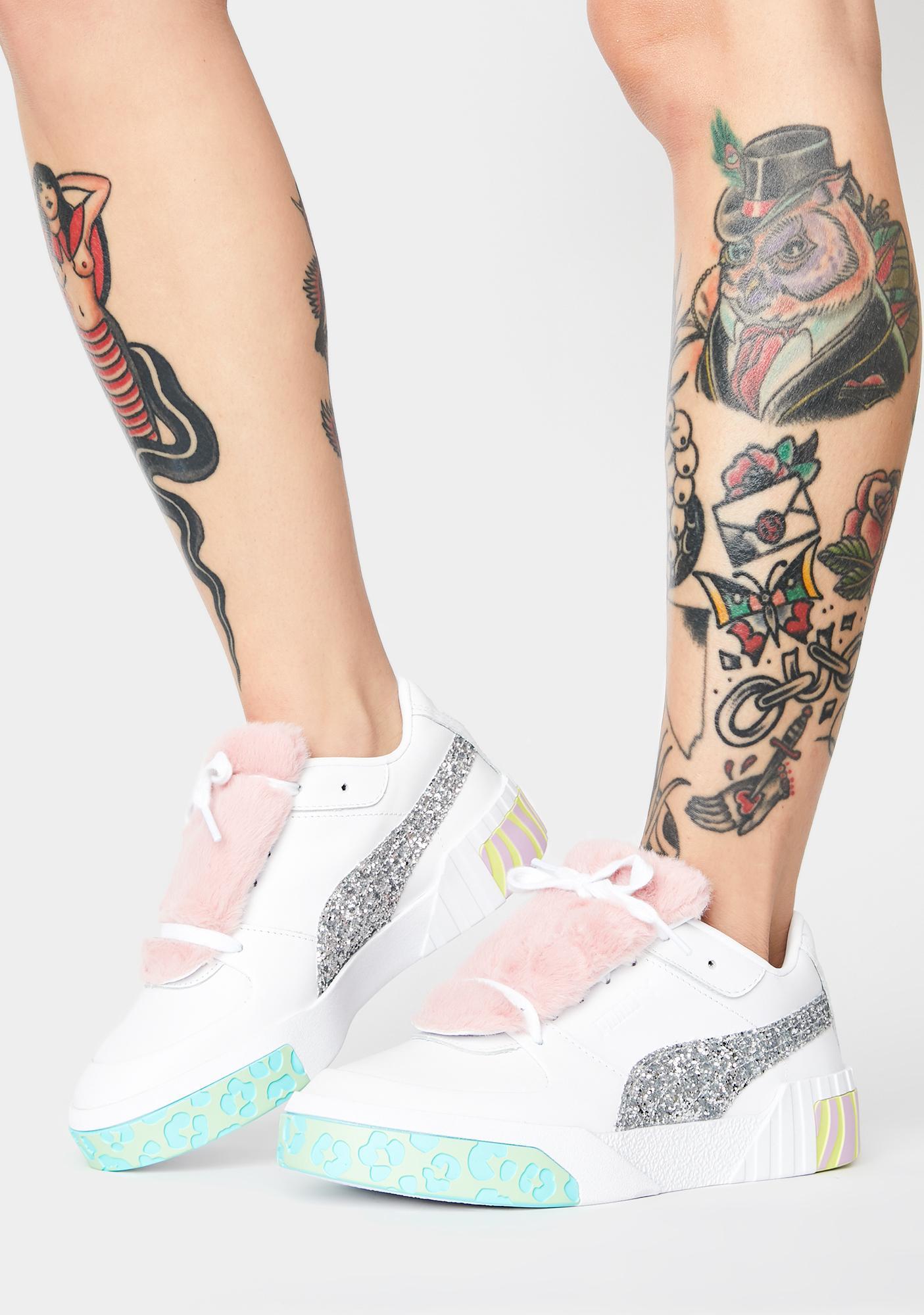 PUMA X Sophia Webster Cali Fur Sneakers
